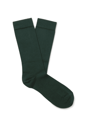 Sunspel - Cotton-Blend Socks - Men - Green