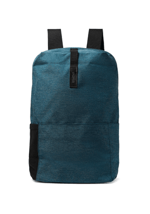 Brooks England - Dalston Medium Leather-Trimmed Tex Nylon Ripstop Backpack - Men - Blue
