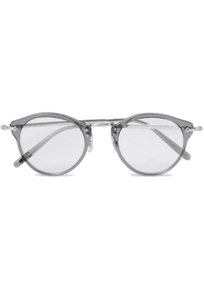OLIVER PEOPLES - OP-505 Round-Frame Acetate and Silver-Tone Optical Glasses - Men - Gray