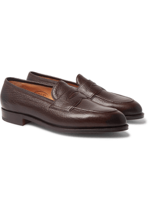 Edward Green - Piccadilly Full-Grain Penny Loafers - Men - Brown