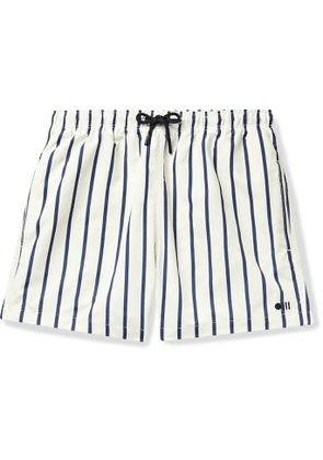 Solid & Striped - The Classic Mid-Length Striped Swim Shorts - Men - White