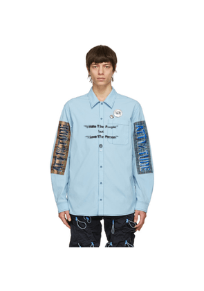 99% IS Blue Nylon I Hate The People Shirt