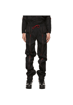 99% IS Black Line Bondage Trousers