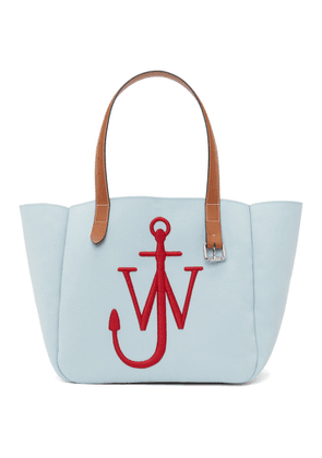 JW Anderson Blue and Red Recycled Canvas Belt Tote
