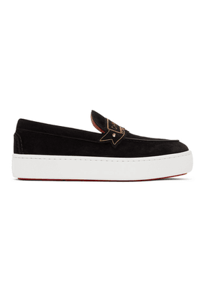 Christian Louboutin Black Suede Amiralou Loafers