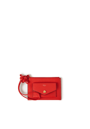 Mulberry Women's Wristlet Pouch with Knot - Lipstick Red