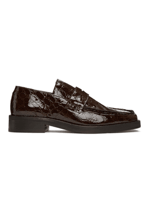 Martine Rose Brown Croc Roxy Loafers