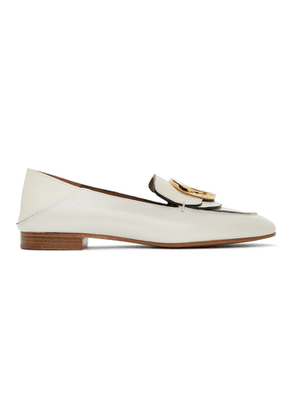 Chloe White Shiny Loafers