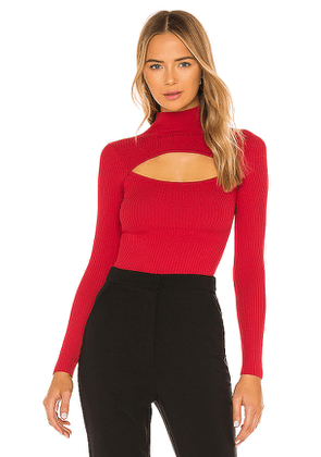 NBD Toula Sweater in Red. Size M, XL.