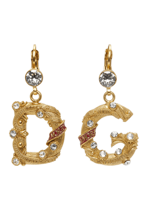 Dolce and Gabbana Silver Small DG City Earrings