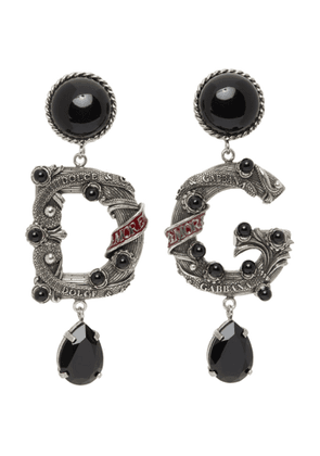 Dolce and Gabbana Silver DG City Jewel Clip-On Earrings