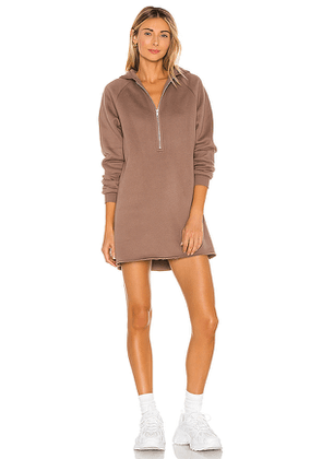 Lovers + Friends Izzy Zip Up Hoodie in Taupe. Size S, XL, XS.