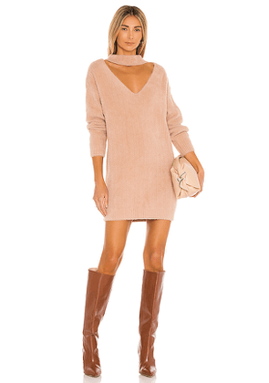 MAJORELLE Jace Sweater Dress in Beige. Size S, XS.