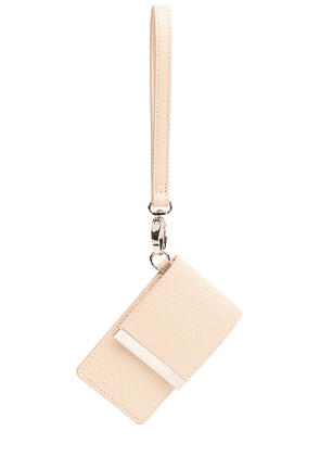 BEIS The ID Card Case in Beige.