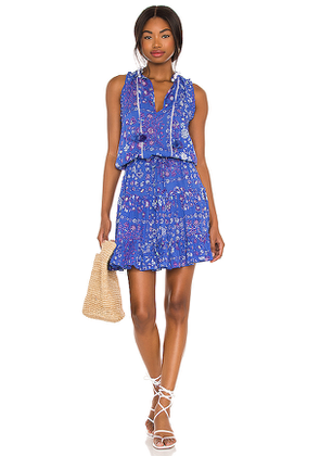 Poupette St Barth Clara Mini Dress in Blue. Size S, XS.