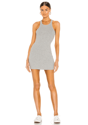 LNA Skinny Racer Tank Dress in Grey. Size M, S, XS.
