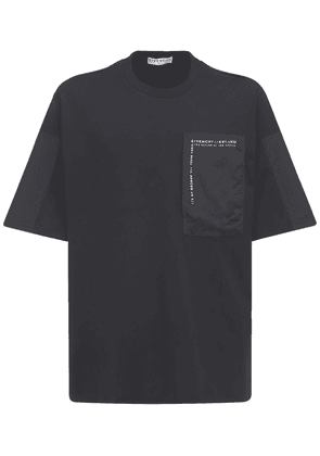 Logo Cotton T-shirt W/ Nylon Pocket