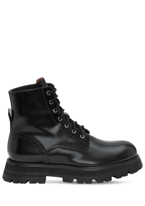 45mm Brushed Leather Combat Boots