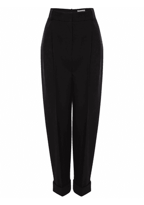 Cropped Tailored Wool Pants