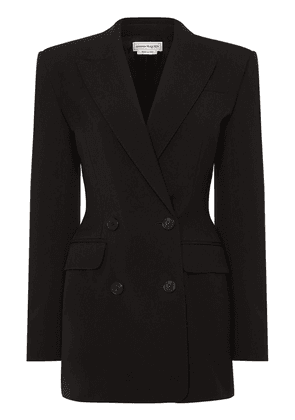 Tailored Double Breasted Wool Blazer