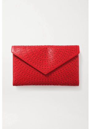 Alaïa - Oum Medium Laser-cut Leather Clutch - Red