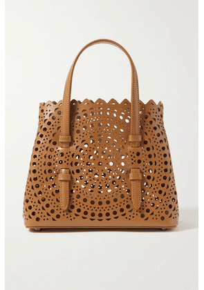 Alaïa - Mina Mini Laser-cut Leather Tote - Tan