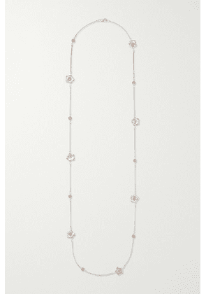 Buccellati - Gardenia Sterling Silver And Pink Gold Vermeil Sapphire Necklace