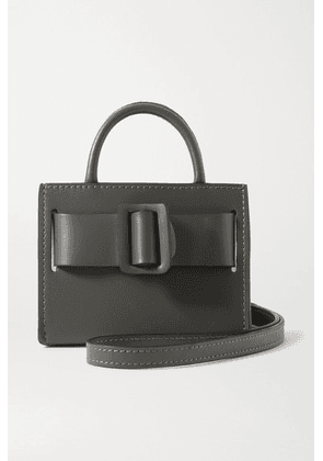 BOYY - Bobby Mini Two-tone Buckled Leather Tote - Charcoal