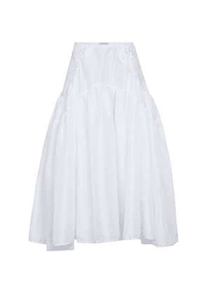 Tiered faille midi skirt