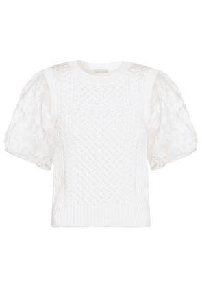 Faye cable-knit top