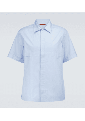 Cotton short-sleeved shirt