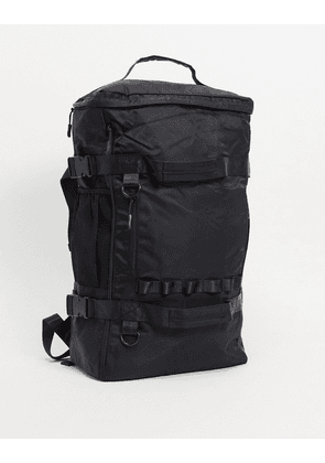 ASOS DESIGN hybrid duffle backpack in black with multi pockets 25 Litres