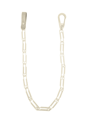Off-White paperclip-link chain - Grey