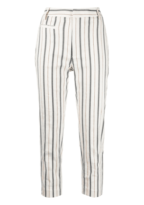 Dondup stripe-print cropped trousers - Neutrals