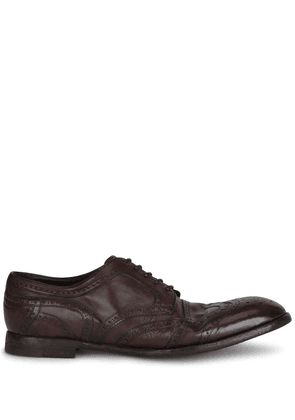 Dolce & Gabbana leather Derby brogues - Red