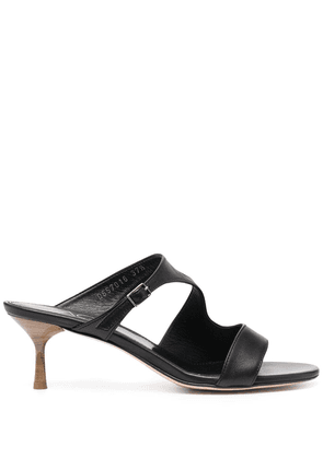 AGL buckle strap detail mules - Black