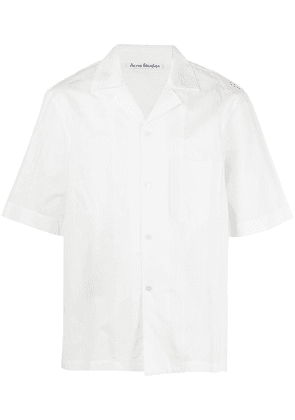 Acne Studios striped chest pocket shirt - White