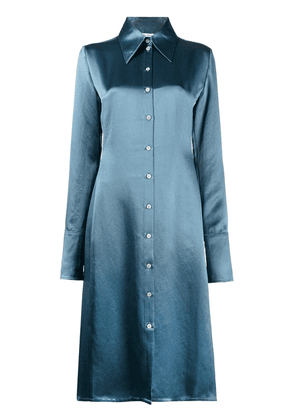 Acne Studios fitted shirt dress - Blue