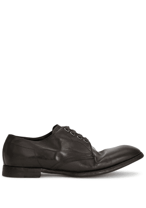 Dolce & Gabbana dented style derby shoes - Green
