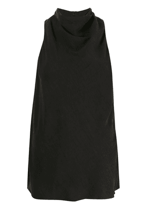 Acler Owler cowl neck crepe top - Black