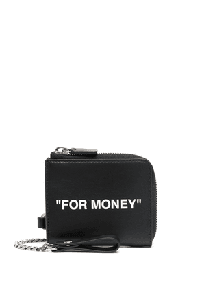 Off-White quote chain wallet - Black