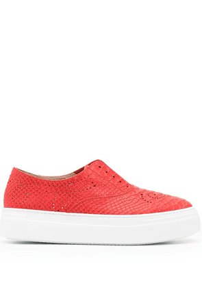 Fratelli Rossetti perforated decorations sneakers - Red