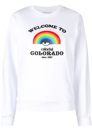 Chiara Ferragni Rainbow print sweater - White