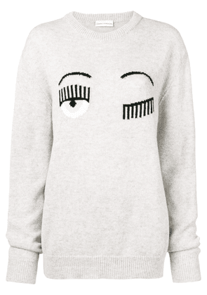 Chiara Ferragni Blinking Eye jumper - Grey