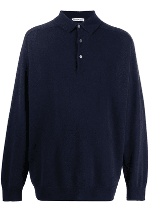 Acne Studios polo knitted jumper - Blue
