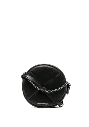 Emporio Armani mini round shoulder bag - Black