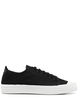 Car Shoe lace-up low-top sneakers - Black