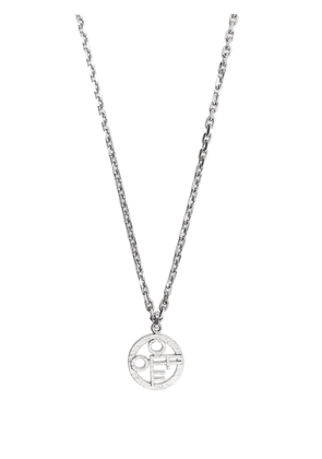 Off-White OFF textured pendant necklace - Silver