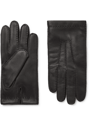 DENTS - Shaftesbury Touchscreen Cashmere-Lined Leather Gloves - Men - Black