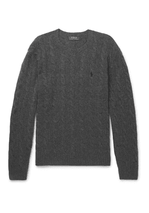 POLO RALPH LAUREN - Cable-Knit Wool and Cashmere-Blend Sweater - Men - Gray